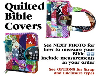 CUSTOMIZED Quilted Bible Cover