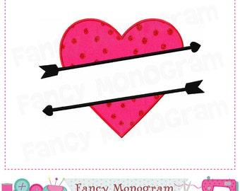 Split heart applique,Valentine design,Heart applique,Split heart,Valentine's day,Valentine,Valentines Heart design.-1729