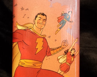 Shazam! 8 oz stainless steel flask