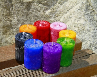 Money + Prosperity Drawing Votive Candle - For emotional balance, peace and light