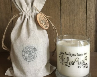Soy Candles-I Love You-Engagement Gifts-Gifts For Groom - Gifts For Bride-Anniversary Gifts-Gifts For Boyfriend-Gifts For Partner
