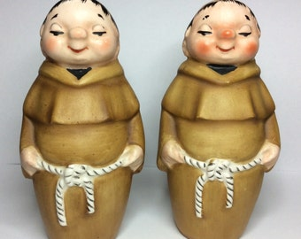 Retro JAPAN MONK Salt and Pepper Shakers SET