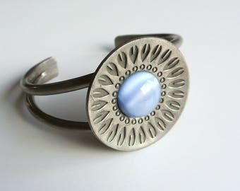 Vintage Danish modernist cuff bracelet by Jorgen Jensen