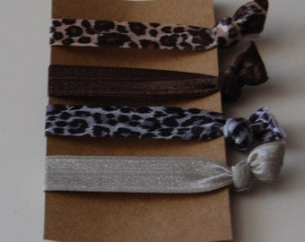 Elastic Hair Ties- Set of 4