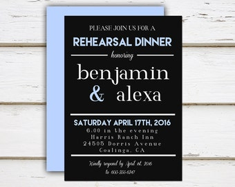 Printable Rehearsal Dinner Invitation, Wedding Invitation, Night Before, Practice Makes Perfect, Wedding Party, Shower, DIY, MB024