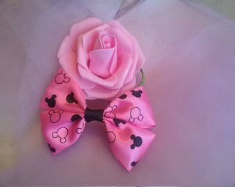 Mickey Mouse pink hair bow
