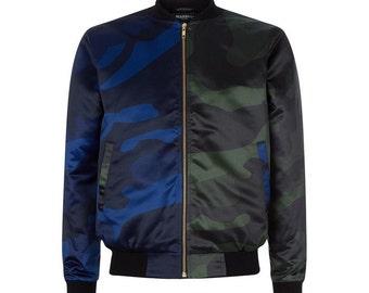 Camo two toned bomber jacket