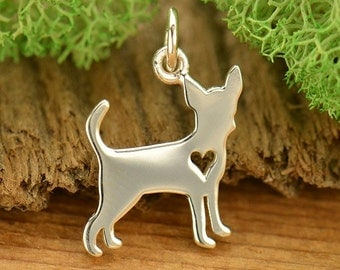 Sterling Silver Chihuahua Charm. Chihuahua Gift.