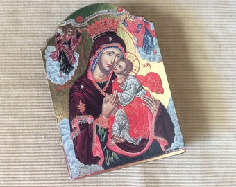 Byzantine Madonna and Child, Made in Greece