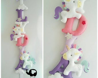 Unicorn nursery decor, Unicorn banner, unicorn name banner, unicorn decor, personalised banner, perfect gift for a girls bedroom or nursery.