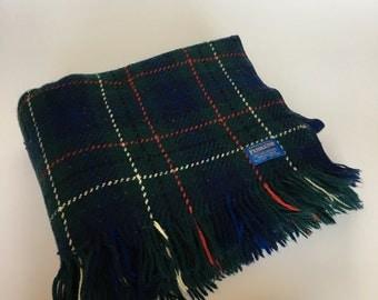 Vintage Pendleton Virgin Wool Plaid Blanket Throw