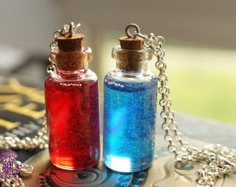 Mana and/or Health Potion Necklace - Nickel free