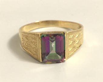 Solid 14k Yellow Gold Ladies Gents Ring Size 9.5 9 1/2