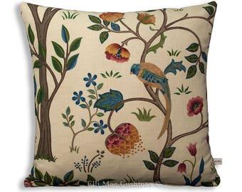 William Morris Fabric Cushion Cover Designer Kelmscott Tree Linen Red Pillow