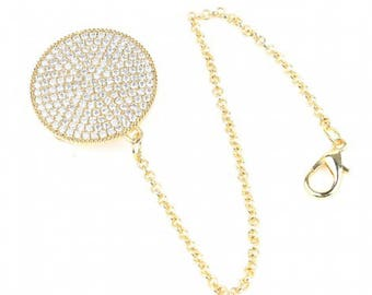 Handmade Swarovski Crystal Bling Pacifier Clip / Pacifier Holder / Pacifier Chain / Baby Girl Gift /  Baby Boy Gift / Pacifier Chain