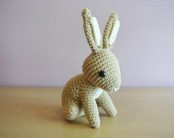 Hopscotch Bunny Crochet Bunny Amigurumi - Handmade Crochet Amigurumi Toy Doll - Woodland Animal - Bunny Crochet - Amigurumi Bunny Rabbit