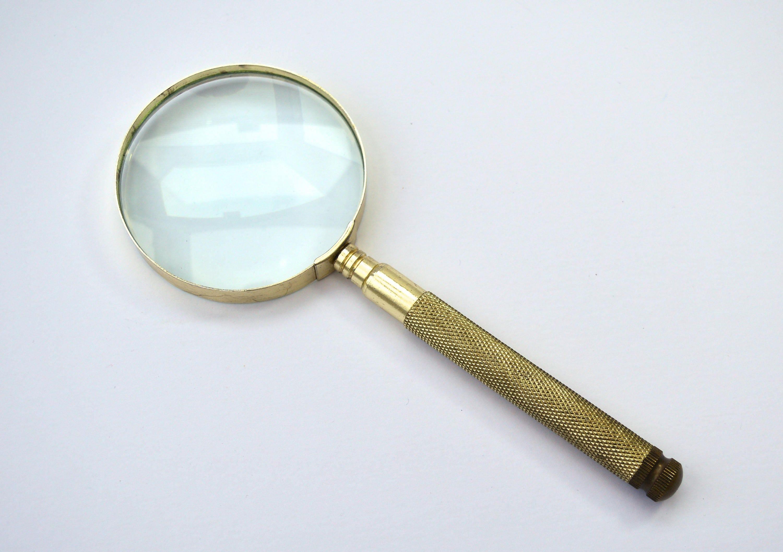 Vintage Magnifying Glass Screwdriver Set Brass Magnifying