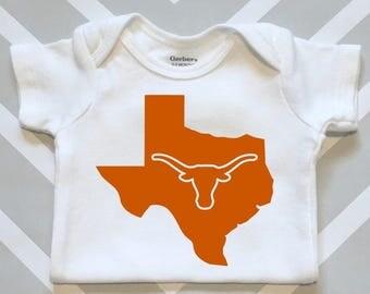 University of Texas Longhorn Onesie - Great UT Longhorn Baby Shower Gift!