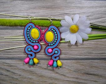 earrings / soutache technique / handmade (nr93)