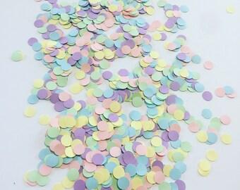 Pastel Circle Confetti- unicorn decorations, party decorations, confetti, pastelconfetti