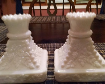 westmorland paneled grape candlesticks