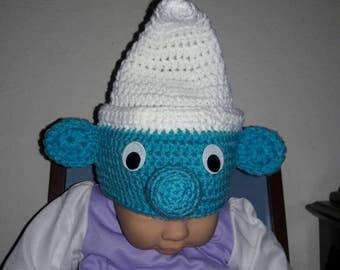 Crochet Baby Smurf  Hat