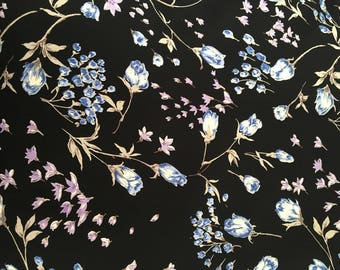 Spring Mix Vintage Style Floral Rayon Fabric by the Yard, Rayon Crepe Fabric Yardage, Fabric by the Yard, Yardage