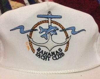 Awesome 90's Vintage Bahamas Yacht Club Snapback