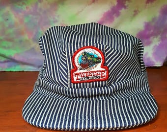 Conductor hat etsy tweetsie railroad train conductor hat adult pronofoot35fo Gallery
