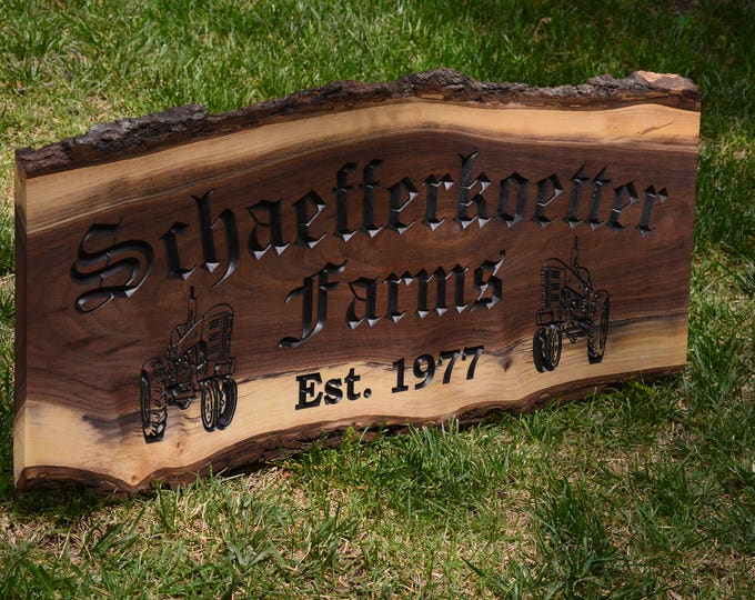 Outdoor Wood Sign Establish Sign Outdoor Custom Wood Sign Last Name Wedding Gift Last Name Establish Sign Custom Carve Wood House Sign