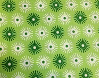 FABRIC 2.5 yards- Robert Kaufman -Starburst Lime