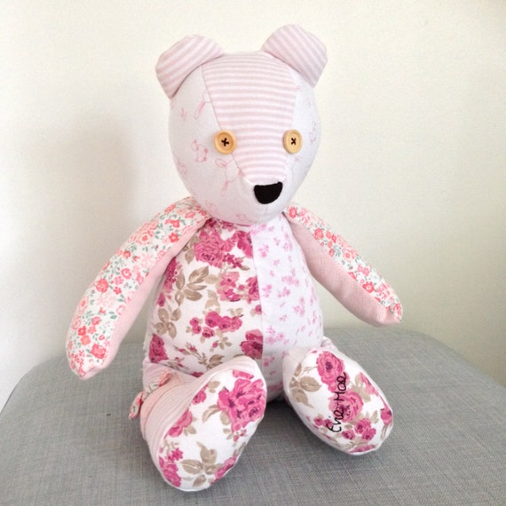 Memory Bear keepsake bear baby clothes by StrawberryBlossomSew
