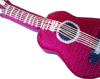Crochet Acoustic Guitar Pattern