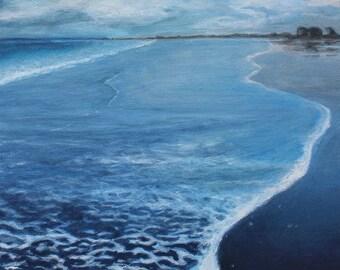 Scarborough Storm Watch Seascape Painting Original Canvas