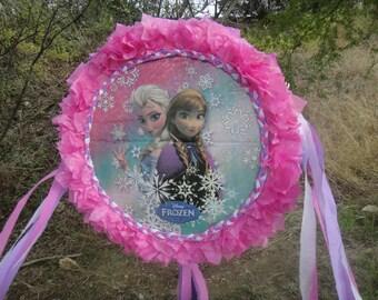Frozen pinata, inspired pinata, Elsa and Ana pinata