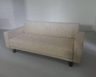 Dollhouse Miniature Modern Sofa Natural Linen  1:12 scale
