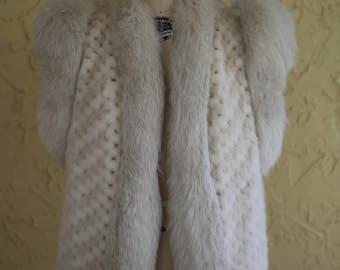 Vintage Vtg Giorgio Sant Angelo Robert Sidney Fur Vest Gilet Coat Jacket Designer Patchwork
