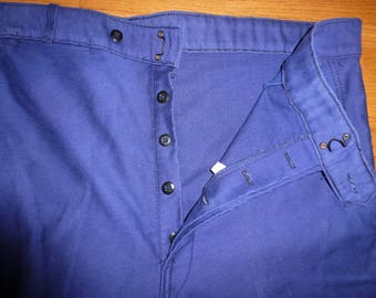 drunk vintage moleskine workwear pants indigo 1930/1950