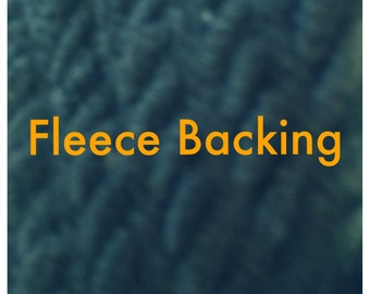 Fleece Backing for blankets