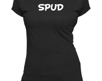 Spud. One Word. Ladies fitted t-shirt.