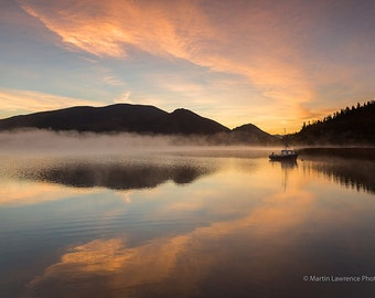 Forty shades of dawn at Bassenthwaite Lake - Mounted Photographic Print of the English Lake District