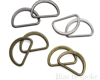 Set of 24 SHI Metal D-Rings, 30mm, 4 Colors Available