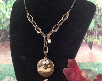 127  Antique Brass Locket