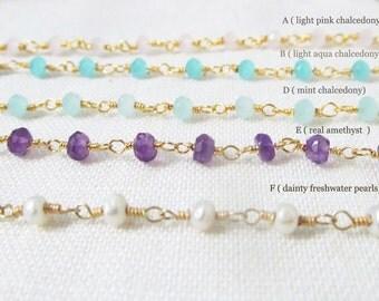 beaded choker, choker necklace, chocker necklace, bead choker, rosary choker chalcedony gemstone choker, real gemstone choker necklace