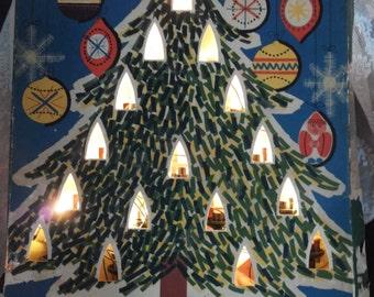 Old fashioned Christmas lights */Philips/Candles/lighting/1958/Nostalgic box/Retro/Vintage/Christmas/mood lighting