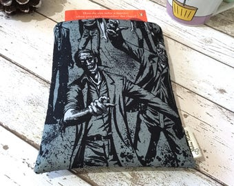 Zombie Smoke Book Buddy, Hardback Paperback Book Pouch, Small Medium Large Book Cover, Book Lover Gift, Apocalypse Book Sleeve, Horror Gift