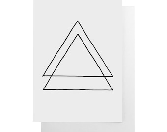 triangles note card