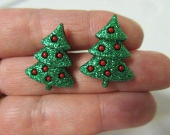 FREE SIPPING! Christmas Tree Stud Earrings-Christmas Earrings-Christmas Stud Earrings