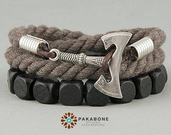 Axe Bracelet Wristband With Axe Bracelet With Axe Viking's Axe Viking Jewelry Slavic Jewelry Axe Perun's  Helm of Awe art. 000-807