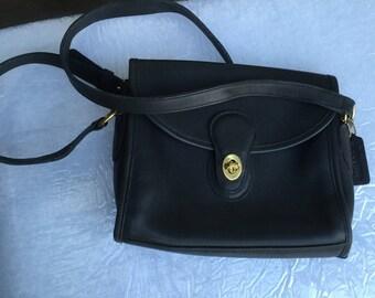 Vintage dark navy Coach crossbody bag purse